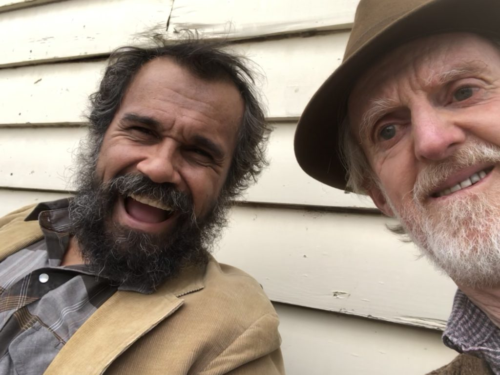 Dougie Smalls with Cam (Aaron Pedersen) in Jack Irish